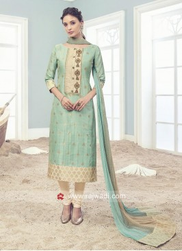 Readymade Cotton Silk Churidar Suit