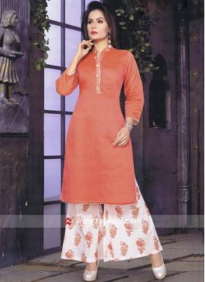 Readymade Cotton Silk Palazzo Suit