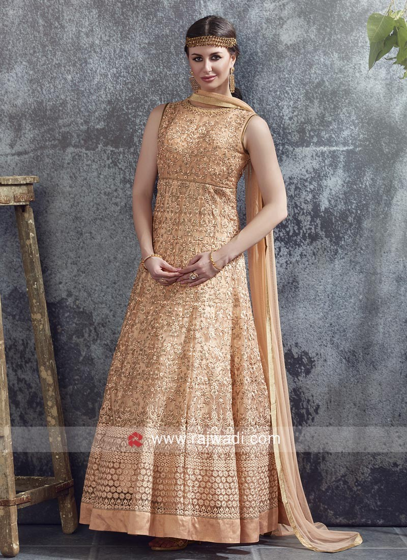 Readymade Designer Net Anarkali Gown
