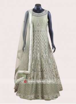 Readymade Double Layer Salwar Suit in Net