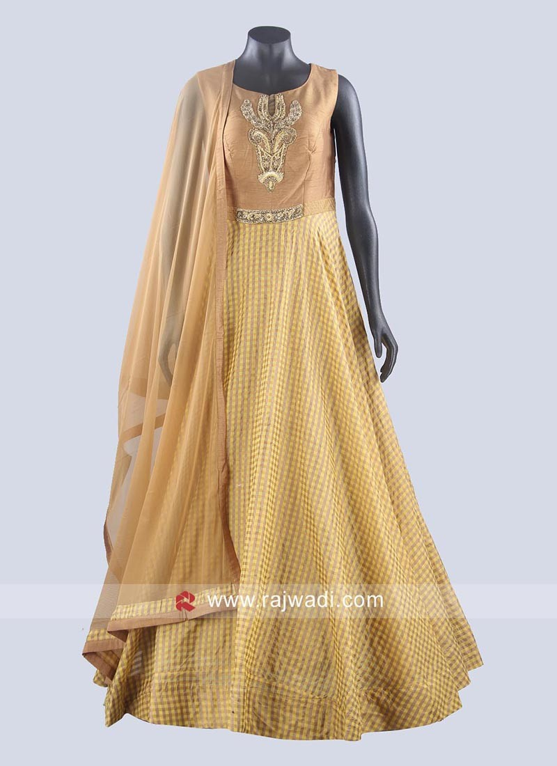 Readymade Embroidered Anarkali Dress