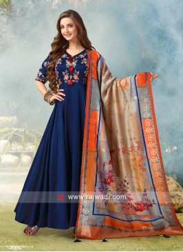 Readymade Embroidered Anarkali Salwar Suit