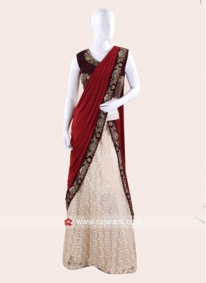 Readymade Embroidered Choli Saree