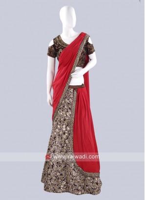 Readymade Embroidered Lehenga Saree