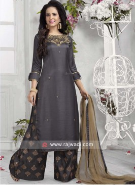 Readymade Embroidered Palazzo Suit
