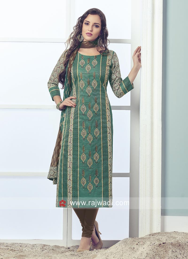 Readymade Embroidered Salwar Kameez