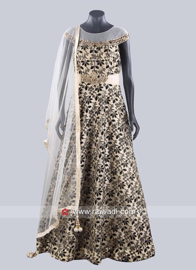 Readymade Floor Length Anarkali Dress