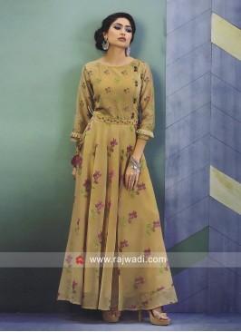 Floral Print Cotton Silk Kurti