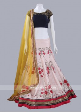 Readymade Flower Work Lehenga Set