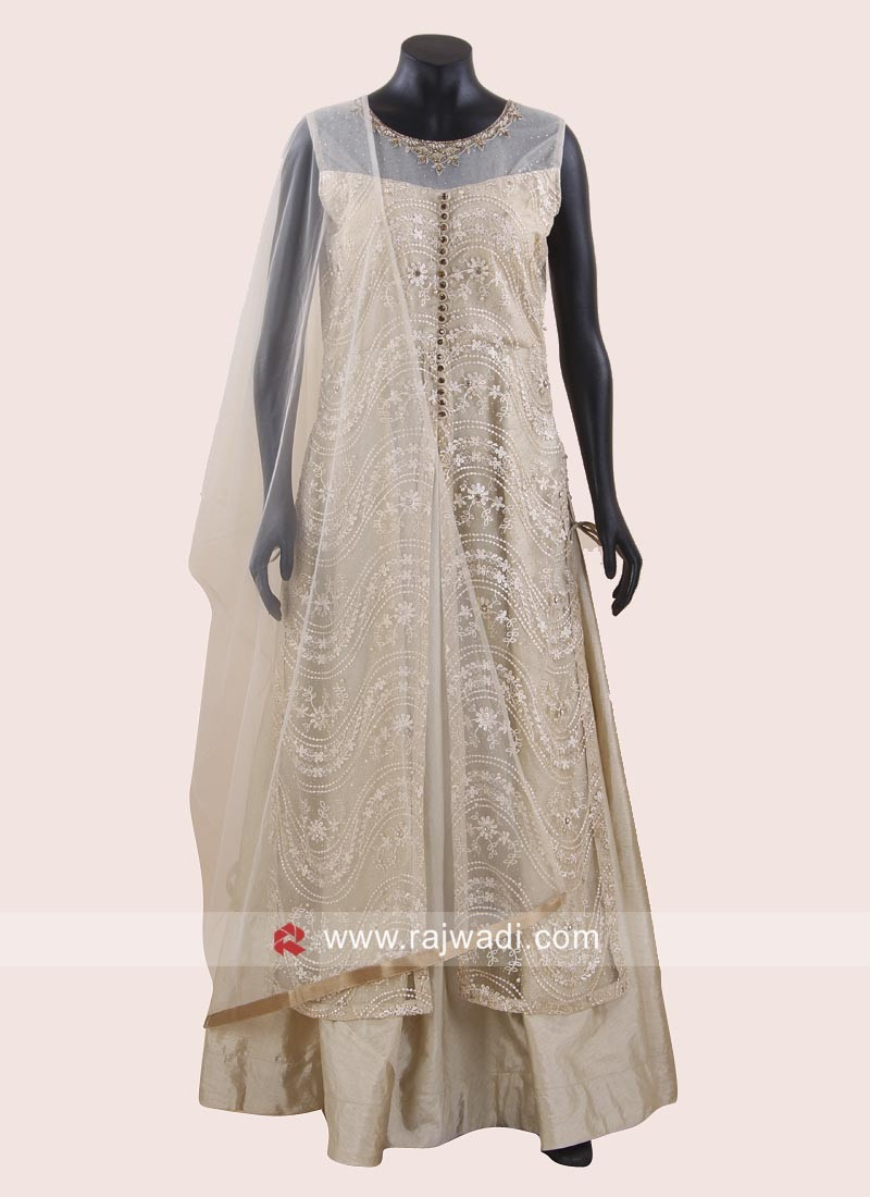 Readymade Jacket Style Anarkali Dress