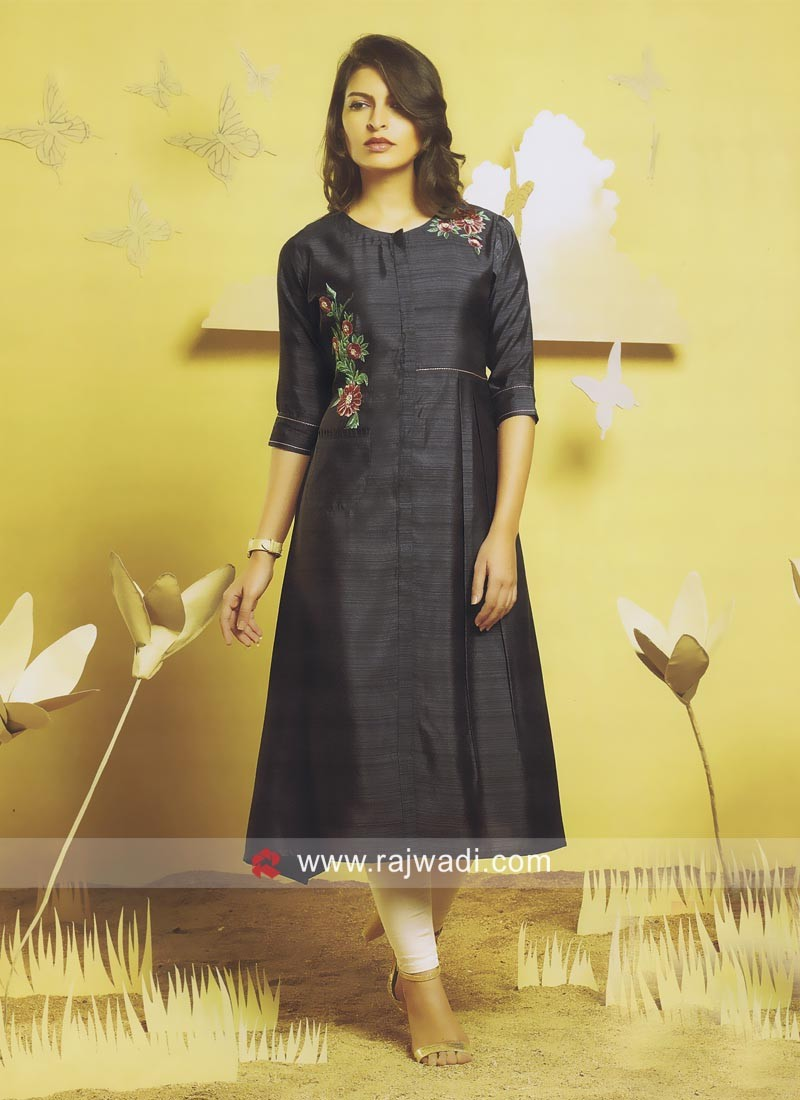 Readymade Kurti in Dark Grey
