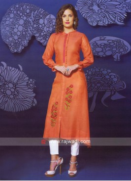 Readymade Kurti in Dark Peach