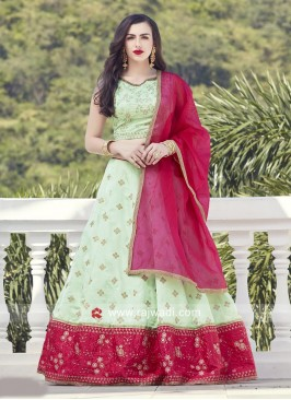 Attractive Lehenga Choli in Pista Green