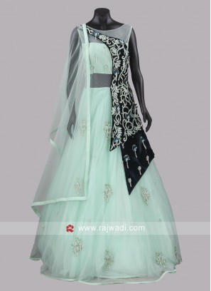 Readymade Net Gown with Dupatta