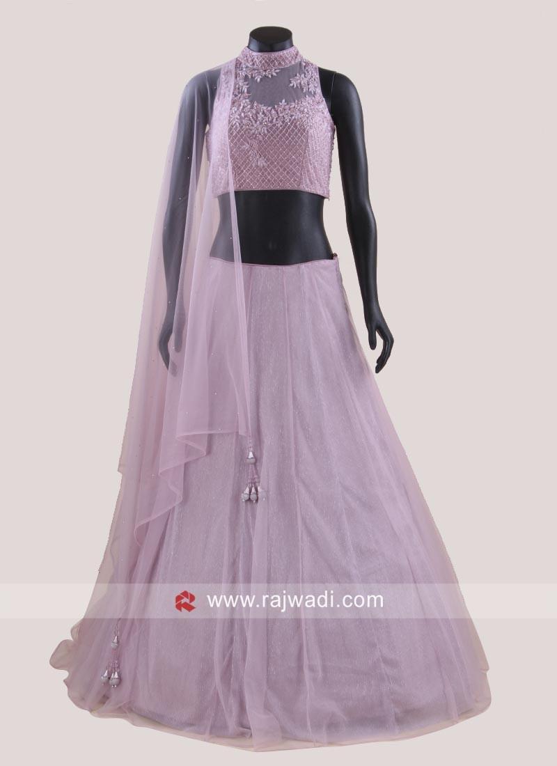 Readymade Net Silk Choli Suit