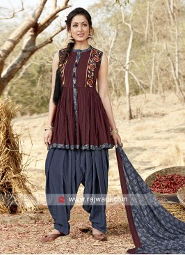 Readymade Patiala Suit with Dupatta