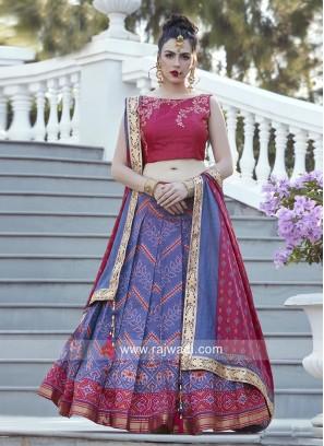 Patola Silk Embroidered Designer Lehenga Set