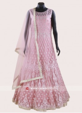 Readymade Pink Anarkali Suit