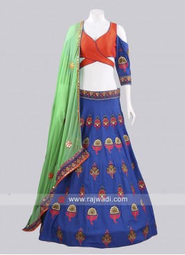 Readymade Raw Silk Chaniya Choli