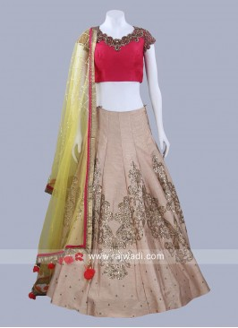 Readymade Raw Silk Lehenga