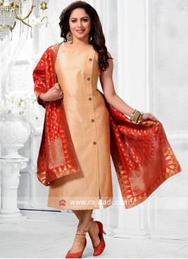 Readymade Salwar Kameez with Buttons