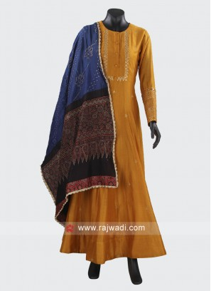 Readymade Silk Anarkali Suit