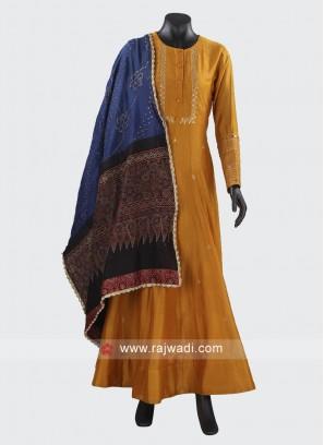 Readymade Silk Anarkali Suit