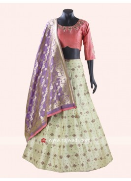 Readymade Silk Chaniya Choli for Garba
