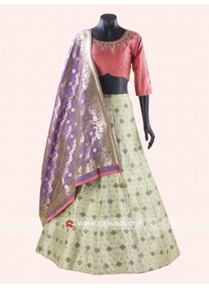 Readymade Silk Chaniya Choli for Garba