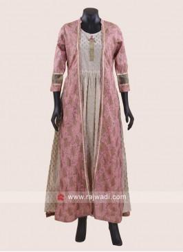 Readymade Silk Jacket Style Kurti