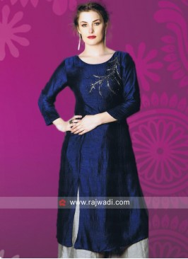 Readymade Silk Kurti with Sleeves