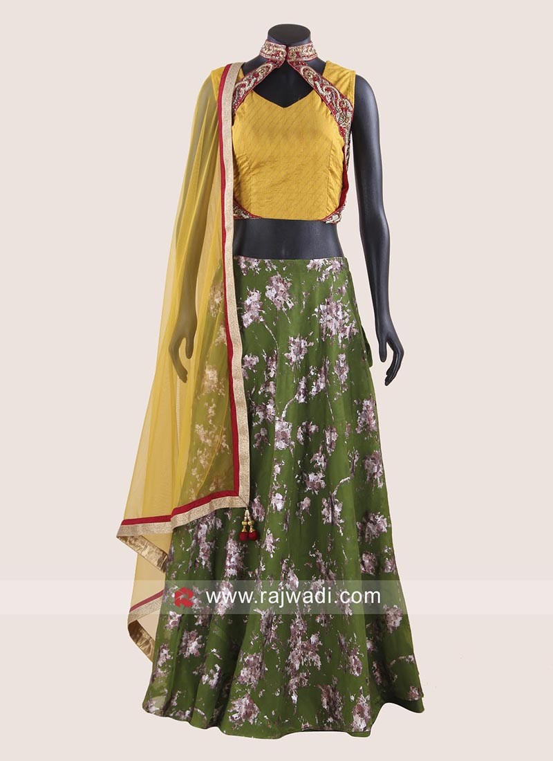 Readymade Silk Lehenga Set