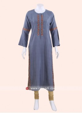 Readymade Silk Straight Fit Kurti