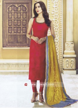 Readymade Sleeveless Churidar Suit