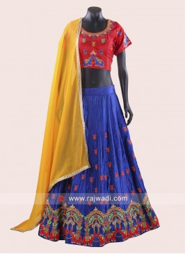Readymade Soft Silk Fabric Chaniya Choli