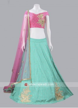 Readymade Soft Silk Lehenga Set