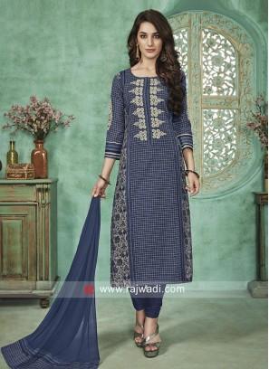 Readymade Straight Salwar Suit