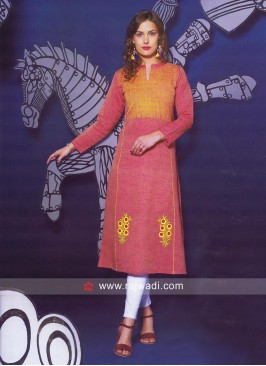 Readymade Thread Work Kurti