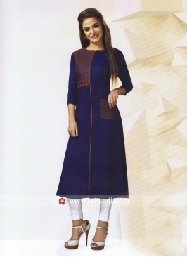 Readymade Thread Work Kurti with Pocket