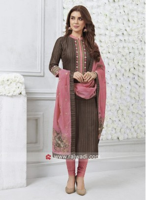 Readymade Thread Work Salwar Kameez