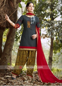 Readymade Tricot Patiala Suit