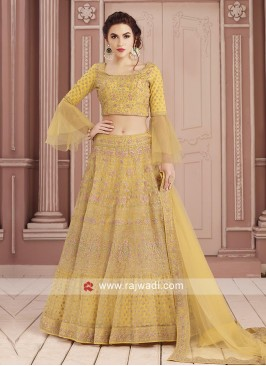 Readymade Yellow Choli Suit