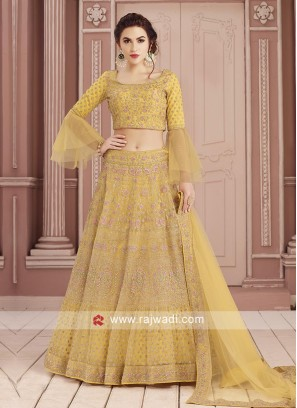 Readymade Yellow Choli Suit
