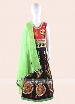 Red and Black Traditional Chaniya Choli