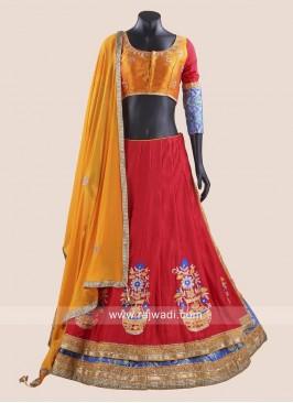 Red and Dark Orange Chaniya Choli