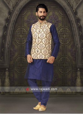 Silk Fabric Nehru Jacket