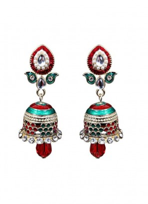 Red and Green color Jhumki