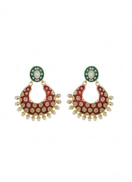 Red and Green Designer Earring