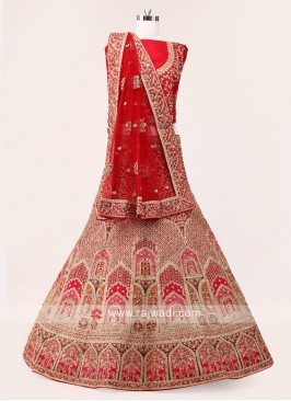 Red And Pink Lehenga Choli