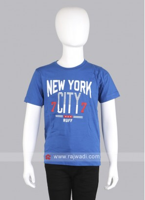 Red & Blue color Pack of 2 T-shirts for boys